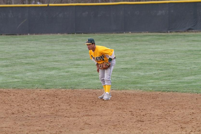 Ben Gunn eyes the pitcher approaching the plate. The team looks to rebound after a tough season last year.