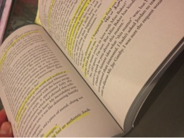 Most students are required to highlight and annotate while they read, which helps retain the information better. Photo courtesy of Alex Wittenbaum.