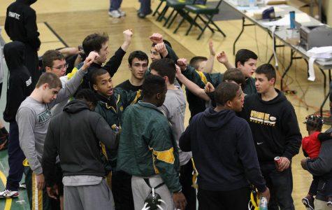 Varsity wrestling grappling opponents
