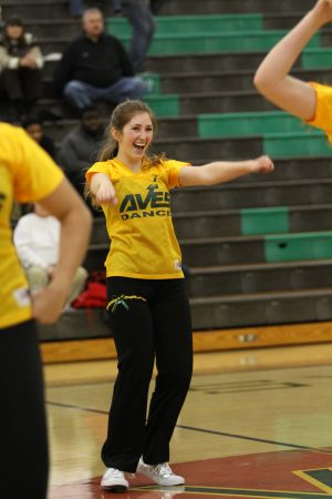 Rachel Klein, 12 during her senior night performance. The seniors danced their own dance with counts of hip hop and jazz. The underclassman will have big shoes to fill next year as they lose twelve members. Photo courtesy of McDaniel's Photography