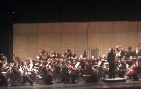 The concert featured many of the brass section from the Wind Symphony. There were also two pieces featuring Karin Oh on the violin. Cellists were also showcased in one piece. Photo courtesy of Rujula Kapoor