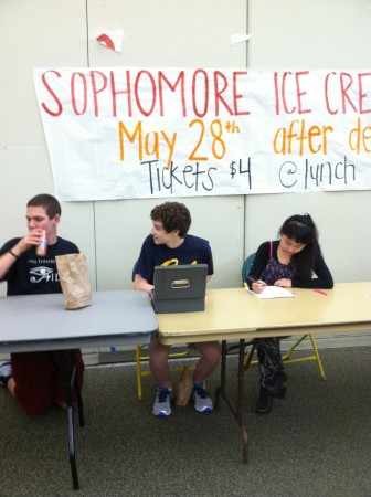 The Sophomore Ice Cream Social is a grand fundraiser for Student Council. It helps them pay for various class events such as prom and graduation. In addition, it is fun for the participants.  Photo Courtesy of Elizabeth Rickert.