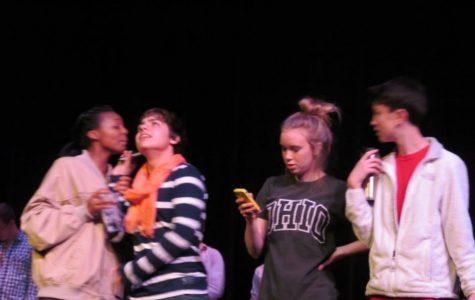 Aves Theater students prepare for senior skit