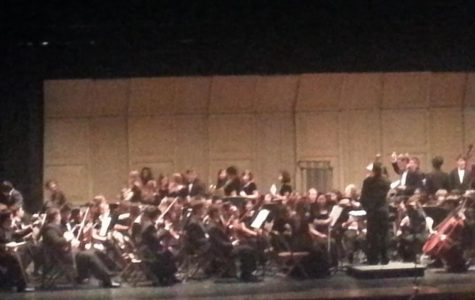 The orchestra is also on its way to preparing for the senior spotlight concert which was at the high school. This photo shows the orchestra at its spring concert last year.  Since then the orchestra has started to practice music for Disney World.