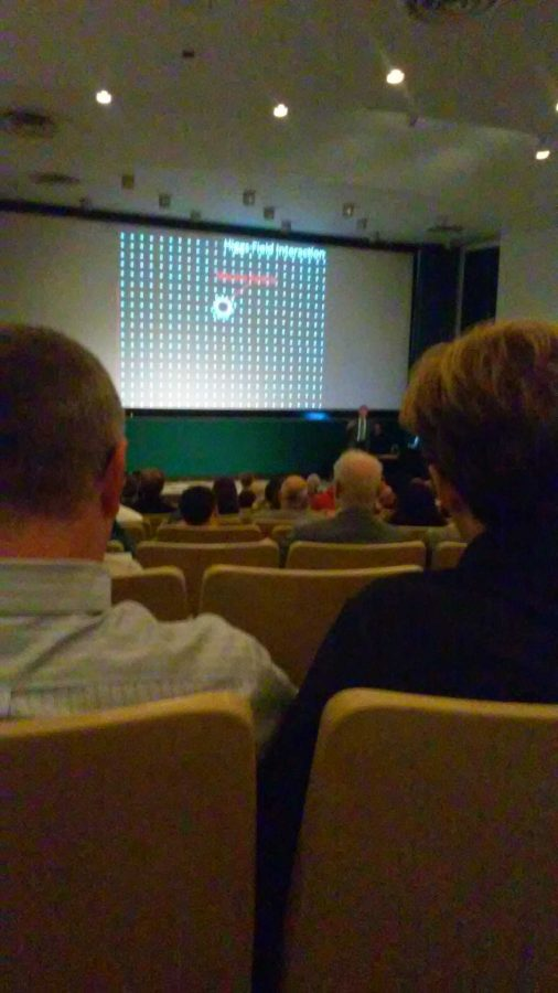 Particle+physicist+Joseph+Incandela+spoke+at+Ohio+State+University+on+October+2.+His+presentation+focused+on+the+new+discoveries+concerning+the+Higgs+Boson.+AP+Physics+students+in+attendance+will+receive+extra+credit.+Photo+courtesy+of+Lila+Englander.