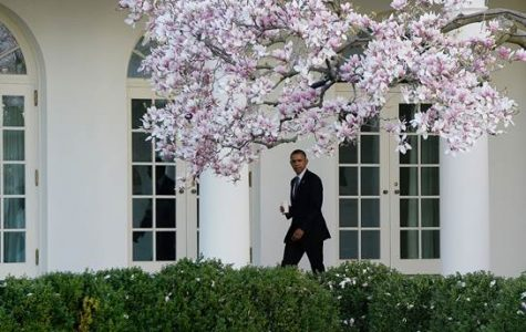 President Obama at the White House. This photo was taken before Omar Gonzalez entered the building. New security measures have been implemented in reaction to this.
