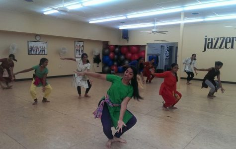Sneha Rajagopal, 12, instructs an Indian dance class. Three times a week she teaches the class to girls ages five to 13. She enjoys watching the girls improve over time. Photo Courtesy of Sneha Rajagopal.