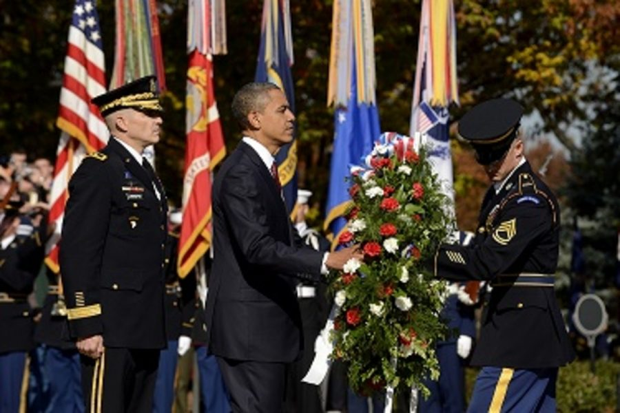 Every+year%2C+on+Veteran%E2%80%99s+Day%2C+the+president+places+a+wreath+in+front+of+the+Tomb+of+the+Unknowns+at+Arlington+National+Cemetery%2C+living+or+dead%2C+for+their+service.+The+tomb+symbolizes+dignity+and+reverence+for+American+veterans.+The+whole+ceremony+honors+all+who+have+served.