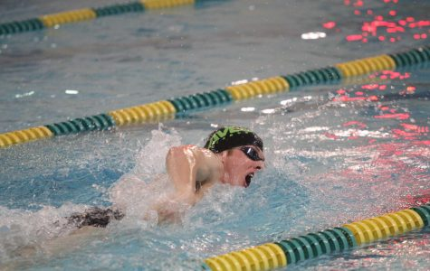 Senior Benjamin Thiss is a sprint freestyler for the team, competing in the 50 and 100 yard freestyle. Last season he led off the 400 freestyle relay at states. This year, he hopes to make an even bigger impact.