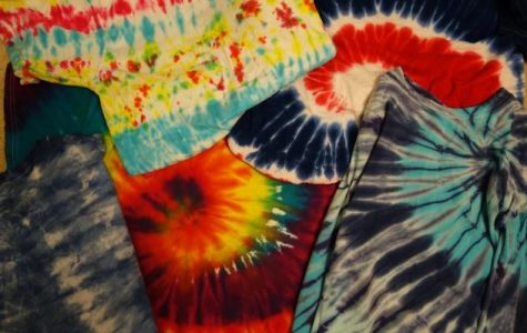 People associate tie-dyes with hippies and the peace-loving era of the 60's.  Today these colorful patterns are found in name brands as fashionable as Vogue or versatile as Land's End.  Every design is slightly different and can easily be done at home, as with the patterns shown in this picture.