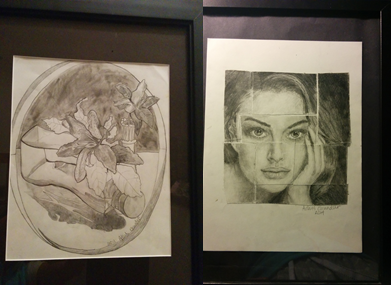 Shown above are two drawings. These were drawing three years apart, and you can tell. Progress can come quickly or take a very long time. Not giving up is very important.