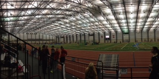 The team will compete at an indoor track complex similar to this one.  This was the location of their first meet, the Spire Institute.  Many indoor tracks are not standard, and vary in length. Photo courtesy of Meggie DiGiovanna.
