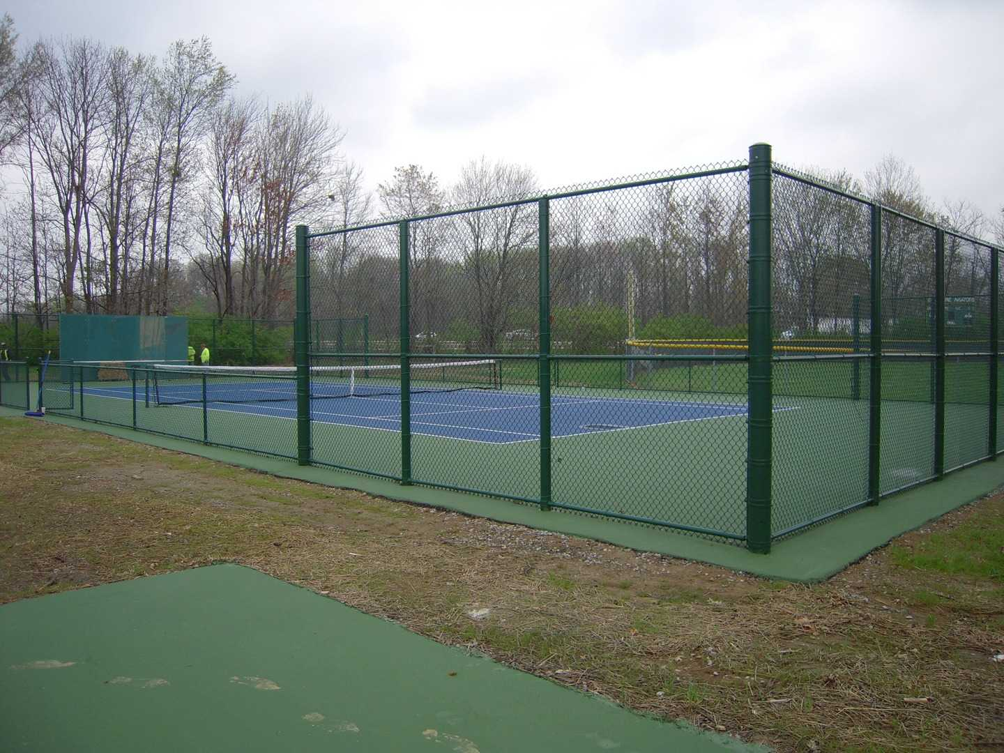 There is only 31 days until tryouts on the tennis courts. They will be held on the one-year-old tennis courts. This is the first time boy's tryouts will be held on the courts. (PHOTO BY MICHAEL TEETS)