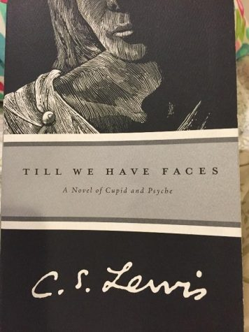 """Cover of the Marina Books addition. C.S. Lewis studied Greek, Latin, classic and medieval works of literature. This work inspired him to create """"Till We Have Faces."""" Photo Courtesy of: Maddie Marsh"""
