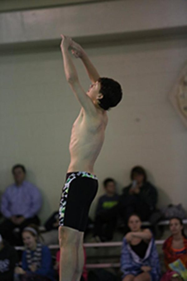 Junior%2C+Cameron+Foy+was+one+of+three+people+who+went+to+districts+for+the+diving+team.+He+is+mid+dive+as+he+shows+off+his+skill+to+do+a+flip.+Foy+is+excited+for+senior+year.+Photo+courtesy+McDaniels+Photography.