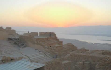 """Masada, pictured above, is one of the holiest spots in all of Israel. People can either walk up the """"snake path"""" or take a trolley car. The site is thousands of years of age."""