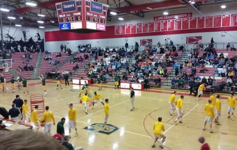 The Varsity basketball team took on Moeller in the first round of the OHSAA State Tournament at Fairfield High School on Friday, Feb 27. This was the final game of the year, as SHS lost 55-19. Moeller is the sixth seeded team in the tournament, and is the favorite to come out of the Southwest district.