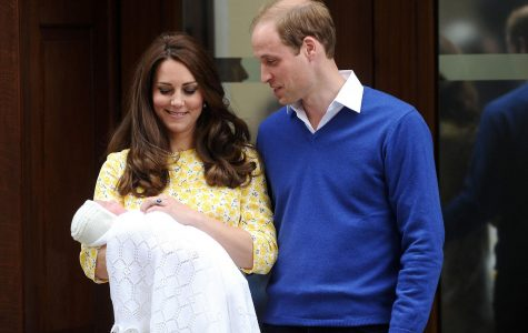 Princess Kate and Prince William bring out Princess Charlotte for the first time. Following the birth, public celebrations took place in the streets throughout England. The international community also took part in celebrating the birth of Charlotte.