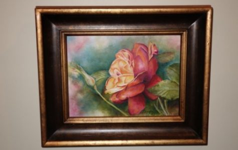 Acrylic Paintings are well known for vibrant and bright colors. This flower done by Mary Looney helps portray the wide range of colors. It also shows the evident layers from the background to the rose.