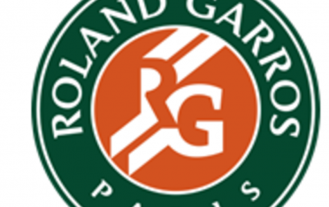 The logo for the French Open, also called Roland Garros.   Only two men have won the French Open in the last ten years, Rafael Nadal and Roger Federer.  Nadal holds the record for most titles at Roland Garros, winning in 2005-2008 and 2010-2014.
