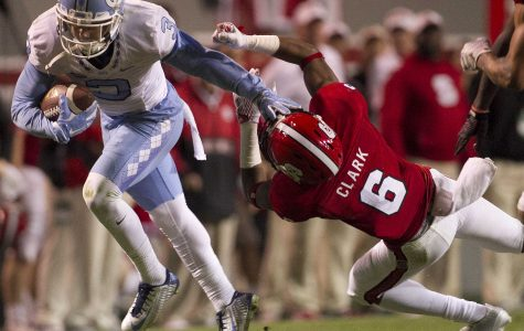 North Carolina is currently ranked number 10 in the nation for football. They play Clemson on Saturday in the ACC(Atlantic Coastal Conference)  Championship game. They have only lost once this season to South Carolina.
