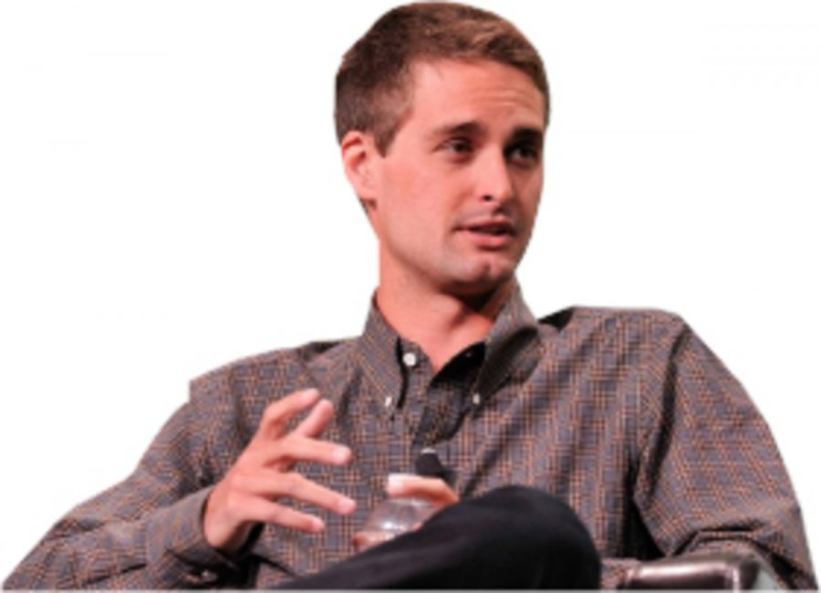 Co-founder+of+Snapchat+%0AEvan+Spiegel+is+seen+here+at+a+technology+convention+explaining+his+application.+Spiegel+has+become+extremely+wealthy+from+his+business+venture+in+Snapchat.