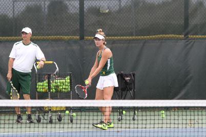 Varsity tennis hits way into senior night