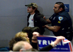 Recently, Trump rallys have often broken out in riots. Protesters are escorted out at almost every rally. Trump was even attacked at one rally.