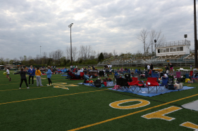 Last year the event took place on the SHS football field.  Students set up chairs and tarp to make the field more comfortable for the overnight event.  Chaperones take shifts throughout the night to supply food to the participants.