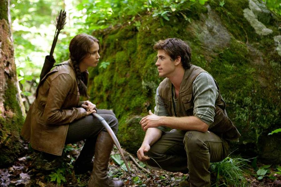 Photo+Caption%3A+This+is+a+scene+with+Everdeen+%28Jennifer+Lawrence%29+and+Gale+Hawthorne+%28Liam+Hemsworth%29.+They+are+in+the+woods+outside+District+12+in+Panem.+The+scene+takes+place+in+the+first+movie%2C+%E2%80%9CThe+Hunger+Games.%E2%80%9D