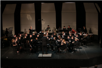 The band performs a winter concert annually for others to enjoy. All three bands are involved into the performance and it is open to anyone to attend. They also perform on Pancake Day, and at the Craft Show. Photo courtesy of McDaniel's Photography