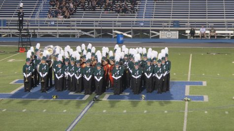 Band performs under the lights