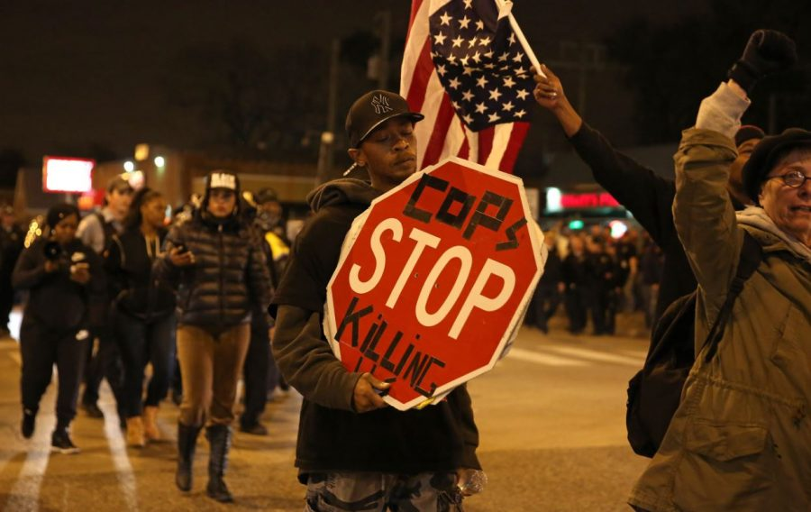 Black+Lives+Matter+protests+take+place+outside+the+courthouse+during+and+following+the+trial+of+Sam+Tensing.+The+movement+fights+for+reform+and+attention+to+African+Americans+being+killed+by+police.+City+leaders+are+working+to+keep+the+situation+safe+for+everyone+involved.