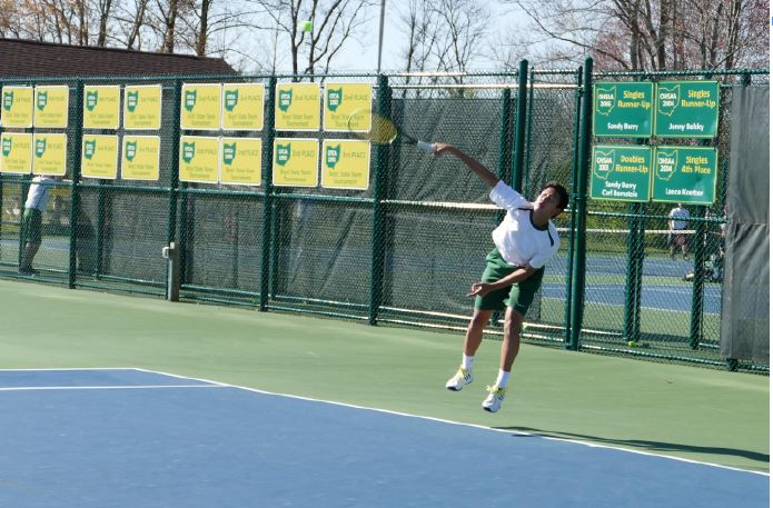 Sycamore+Boys+Varsity+tennis+team+has+a+chance+to+win+their+fourth+consecutive+state+title.+Led+by+captains+Noah+Stern+and+Regis+Lou%2C+the+team+has+to+get+through+Mason+to+compete+in+state.+This+year+Mason+and+New+Albany+will+be+two+of+the+conteders+for+the+state+championship