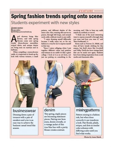 Spring fashion trends spring onto scene