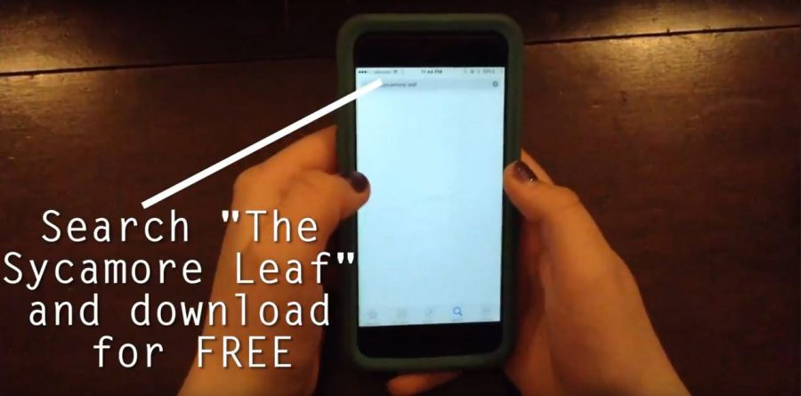 """""""The Sycamore Leaf"""" App!"""