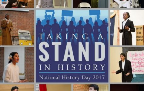 TAKE A STAND. National History Day participants can compete with a website, exhibition, documentary, presentation, or research paper. Eight SHS students from Mrs. Valerie Nimeskern's APUSH class will compete with history papers that they wrote for class based on the topic of taking a stand in history. One junior Natalie Brinkman, will submit a documentary. Photo courtesy of Mrs. Valerie Nimeskern.
