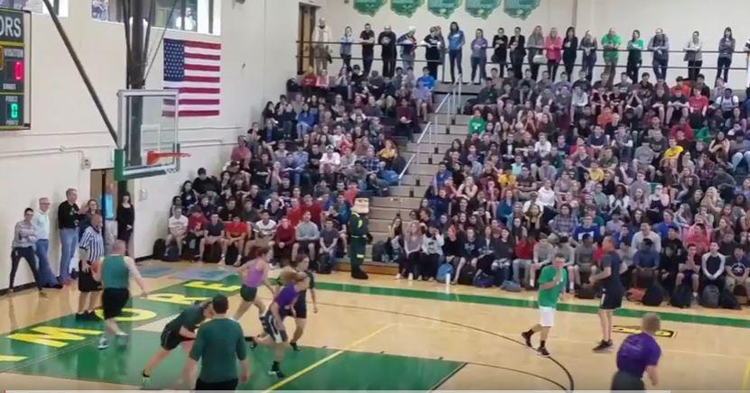Aves- Student vs Staff basketball game