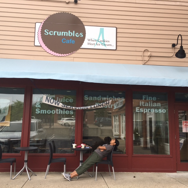 RELAX.+Junior+Adhiti+Chundur+lounges+in+the+sun+upon+the+completion+of+a+gelato+cookie+sandwich+from+Scrumbles+Cafe.+Scrumbles+is+a+fairly+new+cafe+and+ice+cream+parlor+located+in+downtown+Montgomery.+While+eating+may+be+messy%2C+it+makes+the+best+distraction+from+the+stress+of+rounding+out+the+school+year.+Photo+courtesy+of+Jenna+Bao.