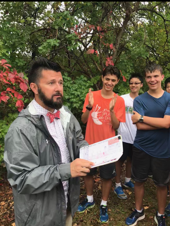 """Coach John Benham has been the SHS Boys Cross Country coach for six years while simultaneously working at Mason as an Art teacher. Over the course of those six years he has raised awareness for Breast Cancer, Alzheimer's, ALS, Brain Cancer, Autism, and finally Mental Health and Suicide Prevention. """"It's been a really great four years, getting to do something so impactful with such a large group of people,"""" Isakson said."""