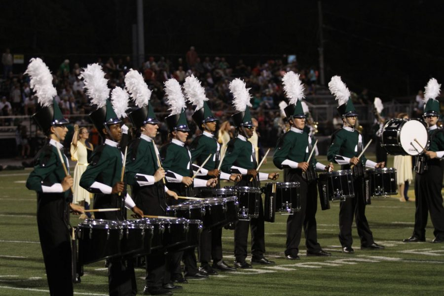 BREAK.+The+marching+band+is+not+competing+for+a+few+weeks.+Their+next+competition+is+on+October+14+and+is+held+at+the+Ohio+State+University.+Currently%2C+the+band+is+working+on+fixing+and+cleaning+their+show+for+the+competitions+and+the+football+games+they+perform+at.