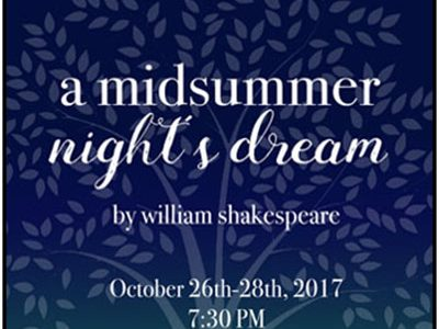 """DREAM. """"A Midsummer Night's Dream"""" posters are placed throughout the school. They also may be spotted at local businesses. """"Come see the show!"""" Cohen said."""