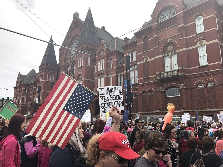 TAKING+A+STAND.+Thousands+gathered+in+Cincinnati%E2%80%99s+Washington+Park+on+Sat.%2C+Jan.+21+for+the+Women%E2%80%99s+March.+The+nationwide+event+sparked+a+year+in+which+feminism+was+the+central+focus+of+most+news+stories+and+conversations.+%E2%80%9CI+feel+it+is+important+that+women+feel+comfortable+using+their+voice%2C+and+the+growth+of+feminism+is+helping+people+start+those+conversations%2C%E2%80%9D+said+Thea+Ferdinand%2C+12.+Photo+courtesy+of+Annie+Marsh.