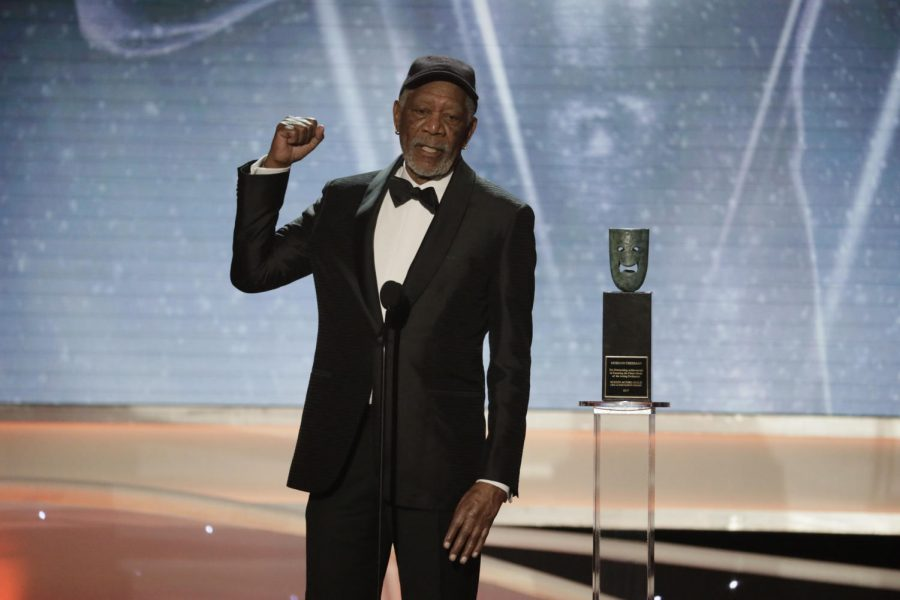 LEGACY. Morgan Freeman accepts his Lifetime Achievement Award from the Screen Actors Guild. He received the award on Jan. 21, 2018 as an 80 year old. Freeman has worked in theatre, TV, and Hollywood
