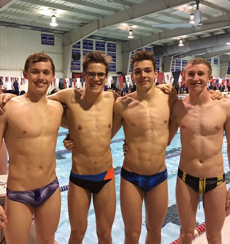 STATE SUCCESS. The Varsity boys relay team seeks a state ranking in Canton, Ohio on Feb. 23 and 24. Winter sports are winding down their seasons, but not without leaving a winning legacies  in search of state titles. Photo courtesy of Elliot Carl.