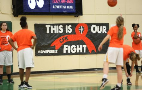 FIGHTING FOR A CURE. This was the second annual Live for Liz game. Last year. the game took place at Mason. For the same event last year, t-shirts supporting the game were sold at lunch. This is the first year SHS has hosted the event.