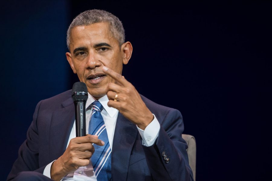 FORTY FOUR. Former President Barack Obama made history as the first African American president of the United States. During his time in office, one of the Obama's administration focuses was affordable health care. In his second term he focused on climate change and the environment.