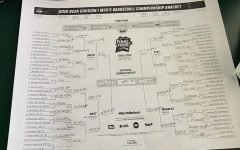 "BRACKET. During March Madness, watchers fill out a bracket to predict games. Over 10 billion dollars are made from illegally betting on these games. ""I don't really watch basketball, but I like filling these brackets out,"" said Sophia Muhleman, 9."