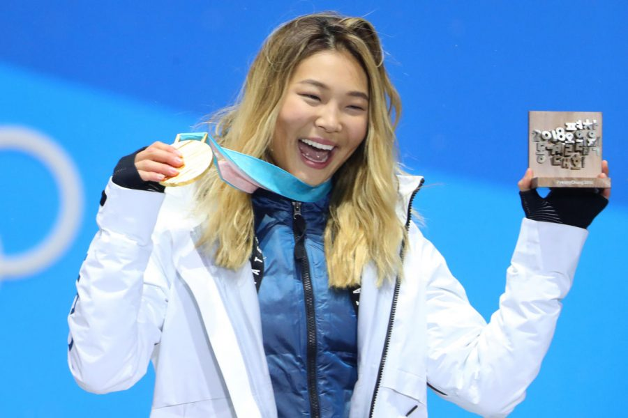 SUCCESS.+Chloe+Kim+was+joined+by+her+US+teammate+Arielle+Gold+on+the+podium+in+the+bronze+medal+place.+The+silver+medal+went+to+Chinese+snowboarder+Liu+Jiayu.+The+US+won+23+total+medals%2C+nine+of+them+gold.+