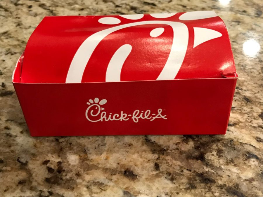 CHICK-FIL-A.+Peipenbring%2C+a+Writer+for+the+New+Yorker%2C++is+against+Chick-Fil-A%E2%80%99s+mainly+Christian+beliefs.+The+box+of+Chick-Fil-A+nuggets+shows+that+Chick-Fil-A+is+just+like+any+other+fast+food+resturant.+%E2%80%9CCorporate+power+makes+it+impossible+to+bring+your+wallet+in+line+with+your+morals%2C%E2%80%9D+said+Piepenbring.